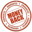 Money back guarantee — 图库照片