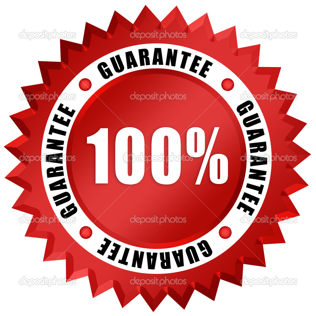 Guarantee seal isolated on white — Stock Photo #12011730