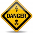 Vector danger warning sign — Stock Vector