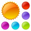 Stock Vector: Blank colored web icons
