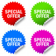 Vector special offer labels - Vettoriali Stock