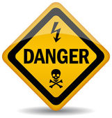 Vector de señal de advertencia de peligro — Vector de stock