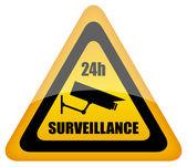 Vector video surveillance sign — Stock Vector