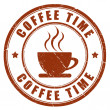 Coffee time stamp — Stock Photo