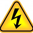High voltage sign — Stock fotografie