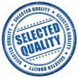 Selected quality stamp — Stock Photo