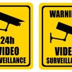 Video surveillance sign — Stock Photo
