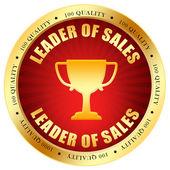 Försäljning ledare ikonen — Stockfoto
