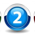 数値ベクトル ボタン — ストックベクタ