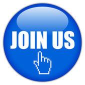 Join us vector button — Stock Vector