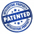 Patented intellectual property stamp — Stockfoto
