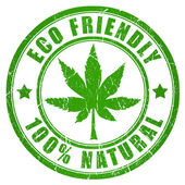 Cannabis eco friendly stamp — Stock Photo
