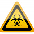 Stock Vector: Biohazard vector sign
