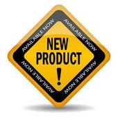 Nuevo signo de producto — Vector de stock