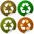 Recycled stickers - Stock Photo