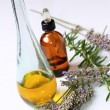 Stock Photo: Lavender oil and essence