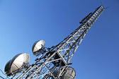 Broadcasting metal tower — Stock Photo