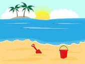 Sunny beach — Stock Vector