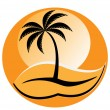 Tropical logo — Stock Vector