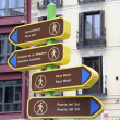 Stock Photo: Sign with tourist attractions, Madrid