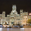 Palacio de Cibeles at night, Madrid - Stock Photo