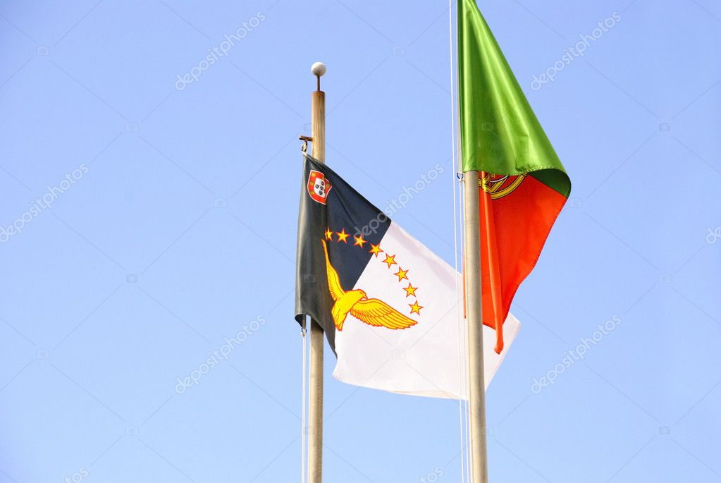 Azorean and portuguese flag — Stock Photo #11869018