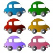 Icons of cars - Stock Vector
