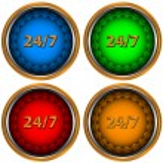 24/7 service icon — Stock Vector #10989760