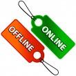 Online- und offline-Symbol — Stockvektor