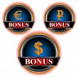Three bonus of an icon - Stock Vector