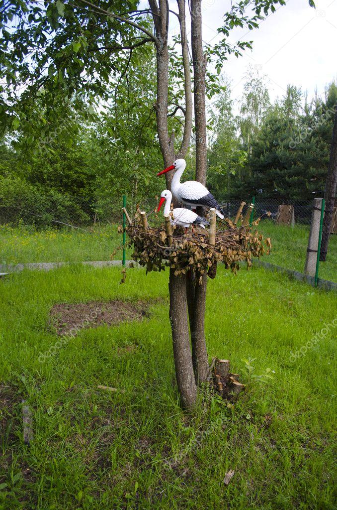 Как изготовить гнездо для аиста