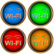 Four Wi-Fi icons — Stockvectorbeeld