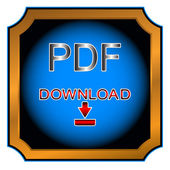 Button pdf — Stock Vector