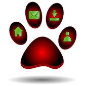 红爪的动物 — 图库矢量图片