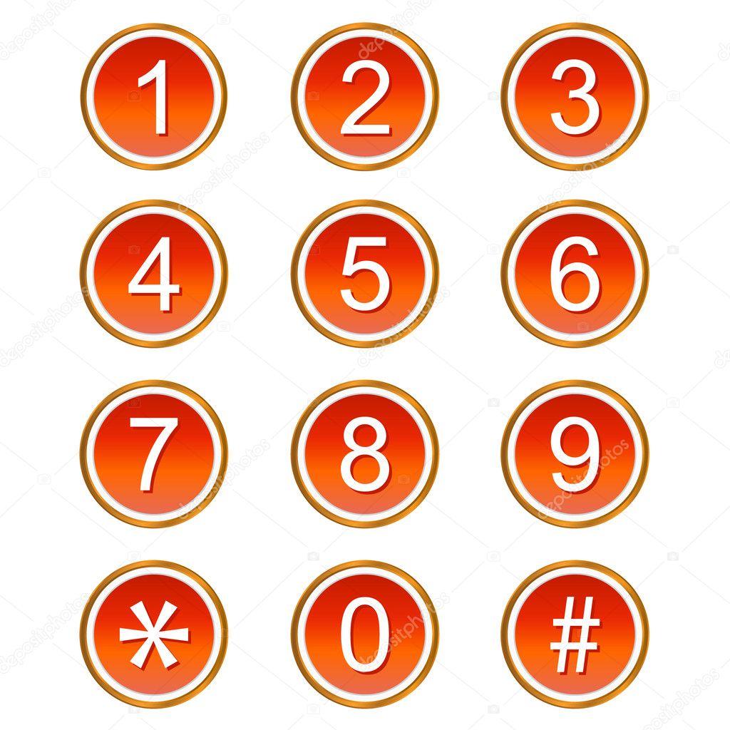 иконки цифры: