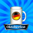 Sign Oktoberfest — Stock Vector