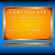 Royalty-Free Stock Vector Image: The certificate