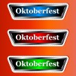 Three signs Oktoberfest - Stock Vector