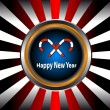 Royalty-Free Stock Vector Image: The button with New Year