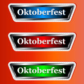 Three signs Oktoberfest — Stock Vector