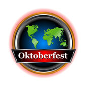 New sign Oktoberfest — Stock Vector