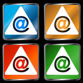 Four signs email — Stock Vector