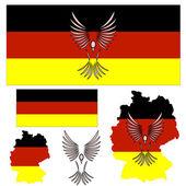 German flag and bird — Stock Vector