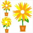 Royalty-Free Stock Vector Image: Flowers in a pots