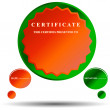 Royalty-Free Stock Vector Image: New certificate
