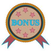 Bonus icon in vintage style — Stock Vector
