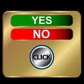 Botones sí y no — Vector de stock