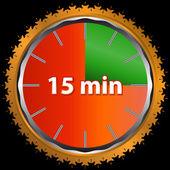 Fifteen minutes — Stock Vector