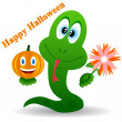 Snake in a Halloween — Stock Vector