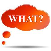 Hablando de nube con preguntas qué — Vector de stock